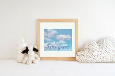 Beatles Cross Stitch  Imagine by John by ExtraSpecialStitches