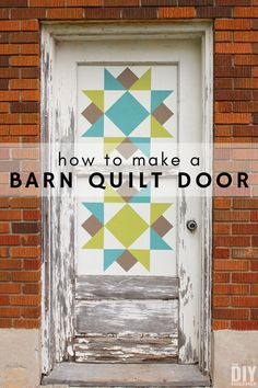 How to Make a Barn Quilt Door, DIY and Crafts, How to make a barn quilt door. Learn how to transform an old door into a barn quilt door. Barn quilts are a great way to decorate outdoors. Barn Quilt Designs, Barn Quilt Patterns, Quilting Designs, Block Patterns, Diy Screen Door, Diy Door, Behr, Le Vermont, Fun Craft