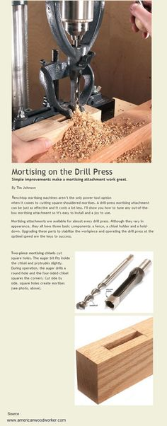 Mortising on the Drill Press