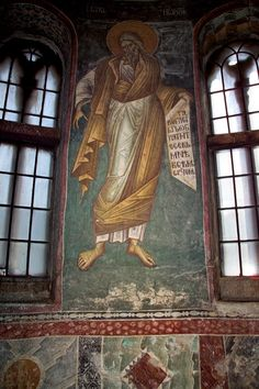 1. Sf Prooroc Ioil 7.1 Byzantine Art, Byzantine Icons, Fresco, Church Interior, Orthodox Icons, Religious Art, Christianity, Cathedral, Saints