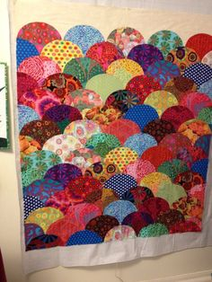 Kaffe Clamshells - a UFO - still needs to be quilted