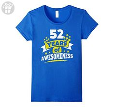 Womens Birthday Gift for 52 Year Old Woman 52nd Birthday Tee Shirt Small Royal Blue - Birthday shirts (*Amazon Partner-Link)