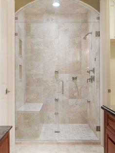 New Bathroom Shower Tub Remodel Small Spaces Ideas Master Bathroom Shower, Shower Tub, Bathroom Ideas, Bathroom Showers, Bathroom Small, Bathroom Vanities, Bathroom Heater, Clean Shower, Cream Bathroom