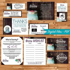 Authorized Scentsy Vendor Bundle - Independent Consultant - Custom Business Cards - Chasing Fireflies - Print Your Own on Vistaprint by ChildofLightDesign on Etsy Chasing Fireflies, Referral Cards, What Is Your Name, Custom Business Cards, Marketing Materials, Business Branding, Scentsy, Independent Consultant, Business Ideas