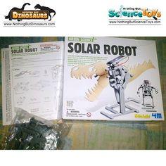 Toysmith 4M Kidz Labs Green Science Solar Robot Dinosaur T-Rex Tyrannosaurus Rex Monster Sun Powered Energy Cell Panels Motor Educational Toy Kit 3294