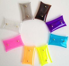 Mini Clutch Card holder transparent purse coin by 9September