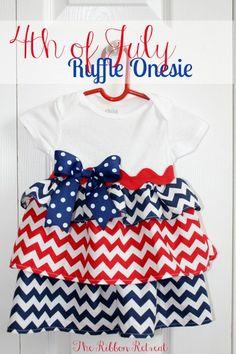 4th of July Ruffle Onesie - The Ribbon Retreat Blog