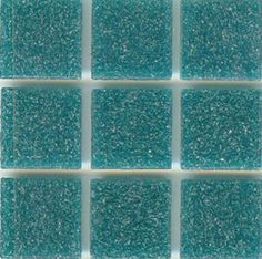 "Brio Color Teal Glass - Blue Green Glass Mosaic Tile - Brio 3/4"" mosaic glass tile ""Teal"" is a blue green opaque glass tile well suited for any modern interior or exterior application. It comes Face mounted with paper by the 1.15 square foot sheet of 225 tiles. This beautiful glass mosaic tile is great on its own or mixed with other colors in our modwalls custom blender."