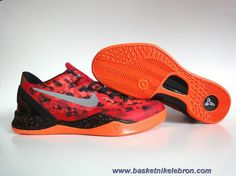 low priced ab698 bba71 Femmes Nike Kobe 8 System ChTousenge Rouge Reflective Argent-Team  Orange-Electro Orange 555035