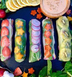 Fruit and veg rice paper rolls by  (@flavorsbyzendy)