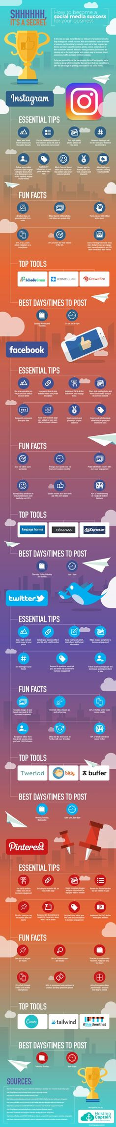 50 Tips & Tools to Become a Pro at Social Media Marketing #Infographic