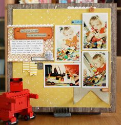 Core'dinations Spotted Cardstock (yellow) and Tim Holtz Kraft-Core. Love this by Kim Jeffress!