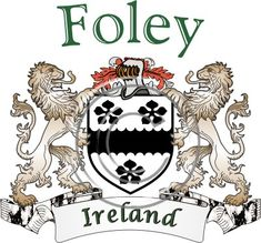 Foley coat of arms. Irish coat of arms for the surname Foley from Ireland. View your coat of arms at http://www.theirishrose.com/#top_banner or view the Foley Family History page at http://www.theirishrose.com/pages.php?pageid=43
