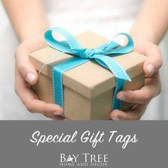 Special Gift Tags {Printable} - Bay Tree Home & Decor Gift Tags Printable, Hostess Gifts, Teacher Gifts, Special Gifts, Gift Wrapping, Printables, How To Make, Decor, Paper Wrapping