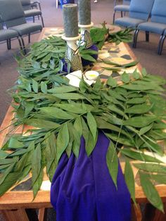2014 Palm Sunday by robinsan, via Flickr Altar Flowers, Church Flowers, Good Friday Crafts, Altar Design, Church Stage Design, Easter Banner, Easter Season, Palm Sunday, Church Crafts