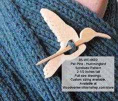 05-WC-0602 - Hummingbird Pet Pins Woodworking Pattern PDF