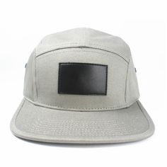 5 Panel Leather Patch Hat With Custom Design Wholesale. MOQ is 50pcs per design/color/style .The unit Price is $2.3~$4.4 .The sample fee is $50