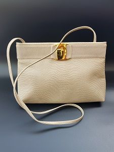 FERRAGAMO Bag. Salvatore Ferragamo Vintage Dark Beige Leather Shoulder Bag    Crossbody   Clutch Bag 7352c6fa87