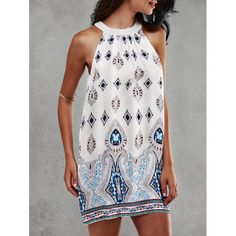 Ethnic Print Sleeveless Dress | TwinkleDeals.com