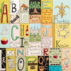 New Orleans Alphabet  Print by thecottagestore on Etsy, $40.00