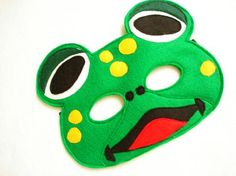 Hey, I found this really awesome Etsy listing at https://www.etsy.com/listing/174635361/childrens-frog-felt-mask-what-does-the