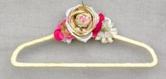 Wedding dress hanger ON SALE ivory custom pink by poshweddingday, More than 30 one of a kind designs went on sale today.
