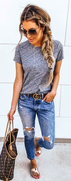 summer outfits women over 40 - summer outfits ; summer outfits women over 40 ; summer outfits plus size Cute Summer Outfits, Simple Outfits, Spring Outfits, Winter Outfits, Summer Clothes For Women, Comfortable Summer Outfits, Summer Outfits Women Over 40, Jeans Outfit Summer, Ladies Clothes