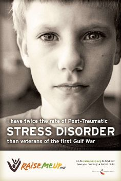 Foster Kids have twice the rate of Post-Traumatic Stress Disorder than veterans of the first Gulf War.  Yes we do, but life has taught us that we learn to deal with it otherwise it's an institution of an entirely negative kind that comes after foster homes.~Em♥