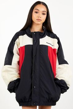 Vintage Reebok Jacket Red/Black/White