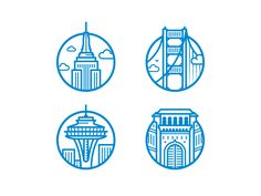 Landmark Icons by Blake Thomas
