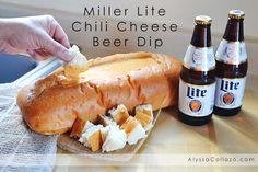 Miller Lite Chili Cheese Beer Dip♥ #BigGameAdvantEdge