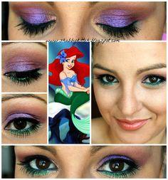 Disney Princess #Makeup Look #Ariel #LittleMermaid #makeupmonday Via Shabby Kitteh