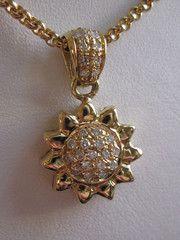 Vintage Chopard estate sunflower sun necklace