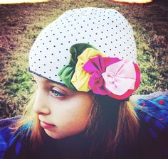 Cotton Baby Polka Dot and Floral Hat for Girls Baby  Cotton Baby Polka Dot and Floral Hat for Girls Baby    Price: $6.99