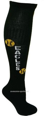Pearsox Custom Softball Tube Socks (Style 1). Minimum order 12 pairs. Available to ship 10-15 business days.  Visit us at www.awesome-sports.com to order.