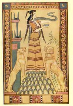 THE SNAKE GODDESS OF CRETE  From the painting by John Duncan, A.R.S.A.