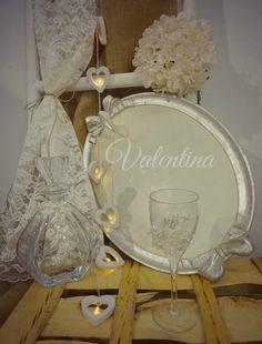 Χειροποίητος Ιταλικός ξύλινος Δίσκος με Κρυστάλλινη Μποτίλια - Ποτήρι! Our Wedding, Globe, Speech Balloon