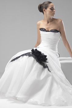 this is def pretty.. if you wanted a black and white wedding dress