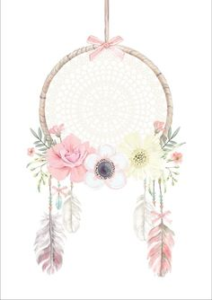 Boho Dreamcatcher Wall Decal -Large Boho Dreamcatcher Wall Decal - Dream catcher Waterslide // Dream catcher image // Tribal image 0 Large Boho Dreamcatcher Wall Decal by on Etsy Mobile bb Pink Flower Mobile Mobile Bebe Dream Catcher Little Girl Rooms, Little Girls, Fond Design, Wand Tattoo, Dream Catcher Boho, Unicorn Print, Flower Frame, Flower Wall, Flower Fabric