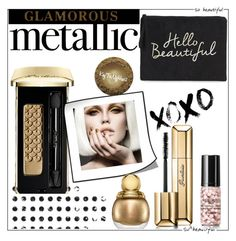 """""""Metallic Makeup!"""" by diane1234 ❤ liked on Polyvore featuring Boohoo, Guerlain and Christian Dior"""