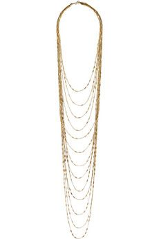 IAM by Ileana Makri Chantilly gold-plated necklace | NET-A-PORTER