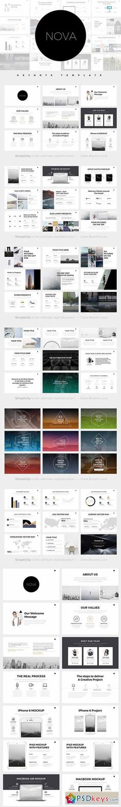 this free presentation template features a really modern and bold, Presentation templates