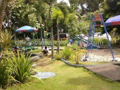 small garden & playground for children at sardjito hospital- yogyakarta indonesia