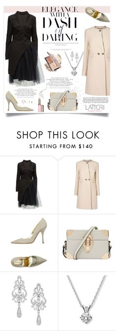 """""""Lattori #29"""" by ana-anaaaa ❤ liked on Polyvore featuring Lattori, L.K.Bennett, Dsquared2, Reiss, Wrapped In Love, Clarins and polyvoreeditorial"""
