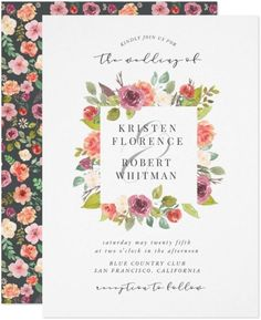 Vibrant summer floral Wedding Invitation features watercolor summer flowers and foliage in striking pink and coral with matching backgrounds. This elegant wedding invite is perfect for summer and spring wedding, outdoor, barn, farm and country wedding. A colorful fun and festive lower design and part of a collection of wedding stationery and invite with the same design that can be edited and Personalized. Summer Wedding Invitations, Creative Wedding Invitations, Letterpress Wedding Invitations, Printable Wedding Invitations, Floral Invitation, Elegant Wedding Invitations, Wedding Stationery, Custom Invitations, Invite