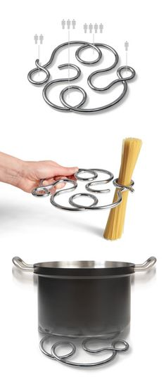 Konstantin Slawinski's Noooodle spaghetti measure trivet ... is an ingenious multifunctional cooking gadget. One part trivet one part spaghetti measure! All put together into a beautiful design that you can leave on your counter.