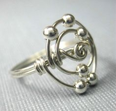Personalized Atomic Elements Ring Carbon Atom Ring Wire Wrapped Sterling Silver Science Jewelry on Etsy, $23.00