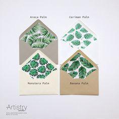 Printable Custom Envelope Liner Template Botanical Liner Blush