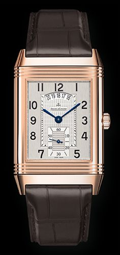 Jeager Le Coultre Reverso Grande Reverso Duo 18K RG Hand wound Available at Cellini jewelers