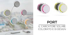 Port is the ideal mobile solar #charger with embedded USB port. Due to the integrated suction pad it can be attached to any window, whether it's at home, in the car or on the plane. You are backed up by an internal 1000 mAh rechargeable lithium battery which brings your stored sun-power wherever you go. Registered design® It's available in 5 different colors and customizable as you like.  Do u like it? Discover more about: http://blog.sadesign.it/solar-powerbank/